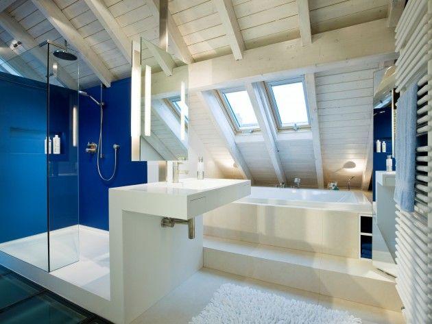 salle de bain en bois sous les combles Maison de rêve Pinterest