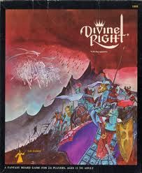 """Divine Right bookcase game.  Remember, """"The Black Hand""""?"""