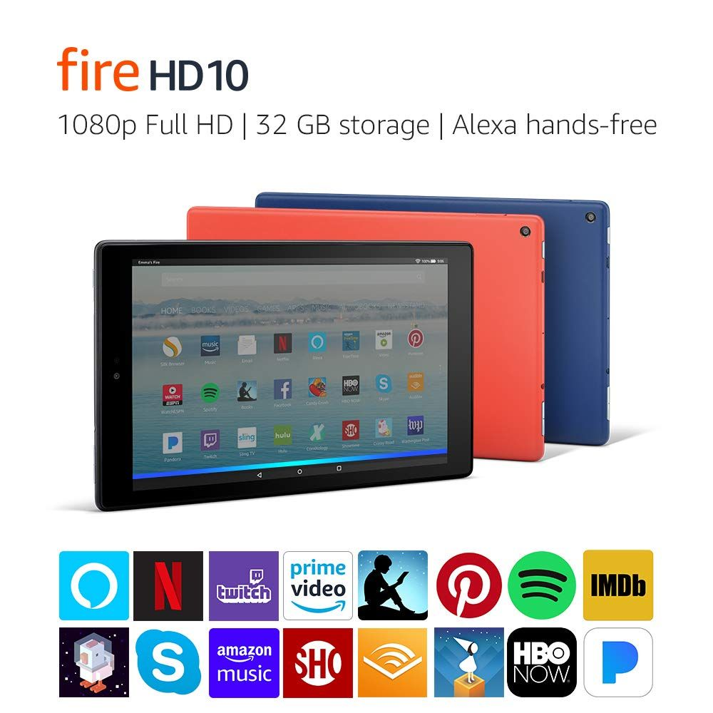 Fire Hd 10 Amazon Official Site Our 149 99 Largest Display Now With Alexa Hands Free Https Amzn To 2uyt1bv Affli Amazon Fire Tablet Tablet Fire Hd 10