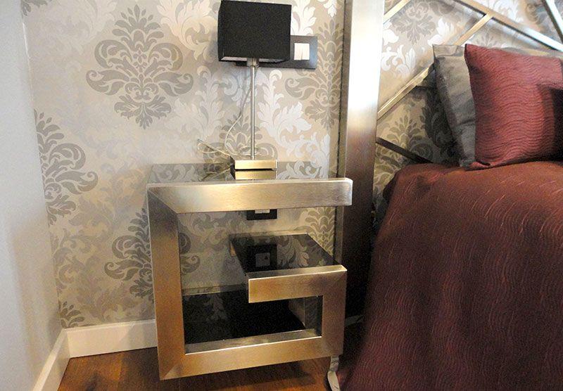 Mesita de noche Moderna Milan - Muebles de Diseño | Mesitas de noche ...