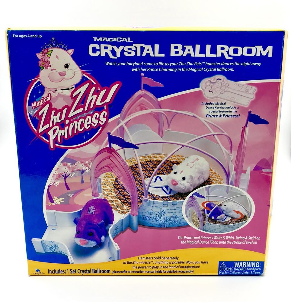 Zhu Zhu Princess Hamsters Magical Crystal Ballroom Boxed Toys Kids Pets Gift Animals For Kids Pet Gift Cool Toys