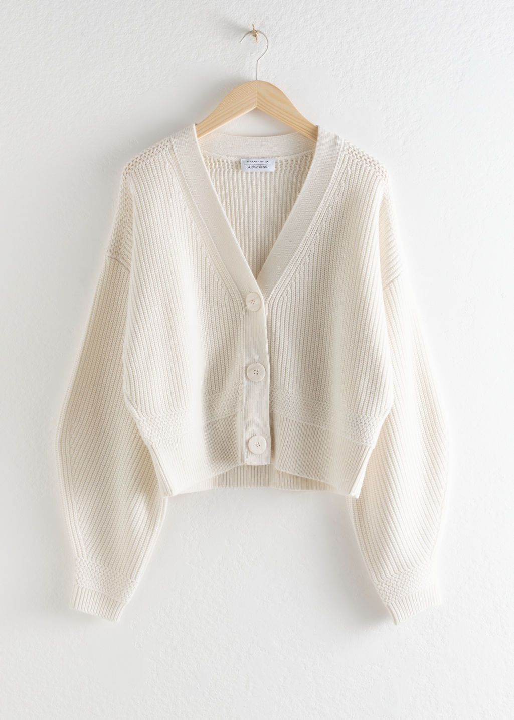 Cropped Cardigan - White - Cardigans - & Other Stories in 7