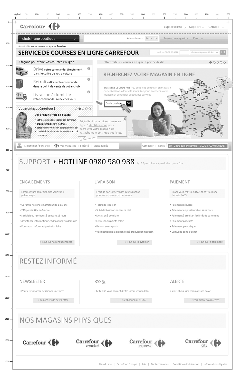 wireframe carrefour