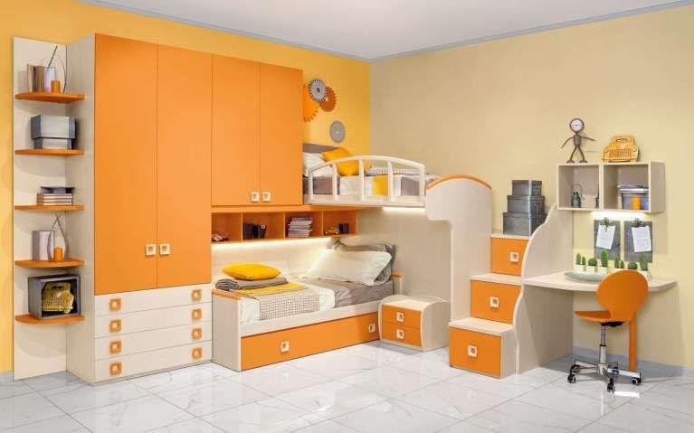 Cameretta Arancione Mondo Convenienza : Camerette mondo convenienza cameretta eco in arancione