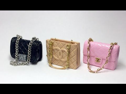 35bb98ee5ec Miniature Chanel Bag(Grand Shopping) Polymer Clay Tutorial 폴리머클레이로 미니어쳐  샤넬가방 만들기 - YouTube