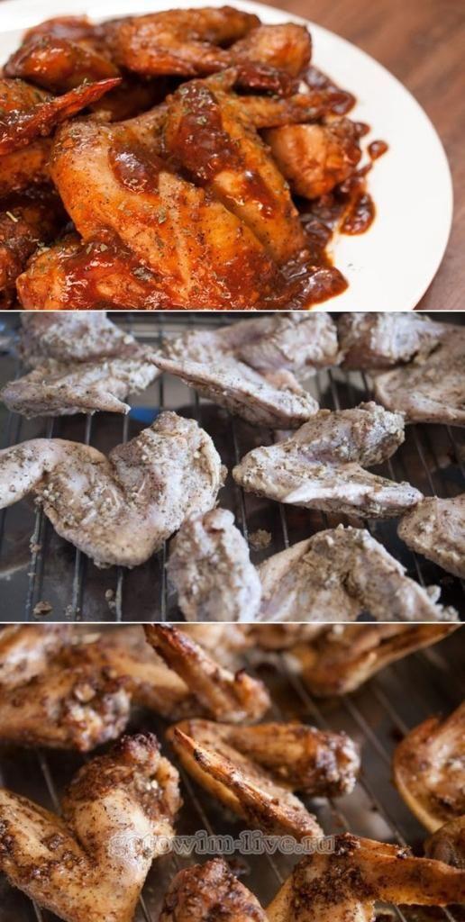 Запеченные куриные крылья в пикантном соусе | Еда, Вкусная ...