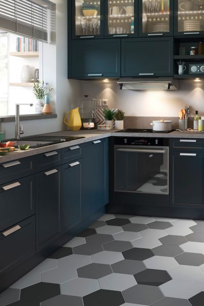 carrelage hexagon kanya en gr s c rame maill. Black Bedroom Furniture Sets. Home Design Ideas