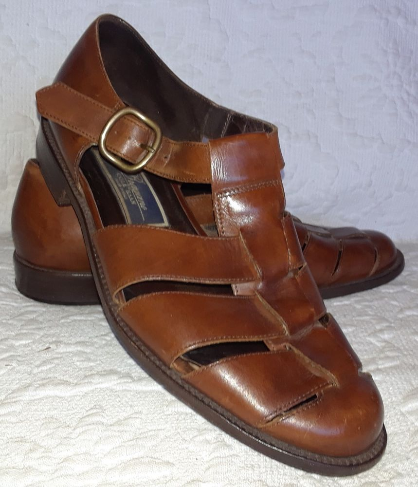 948c9a37ddc8 Mens Bragano Shoes by Cole Hann Fisherman Dress Sandals Brown Leather Size  9  ColeHaan