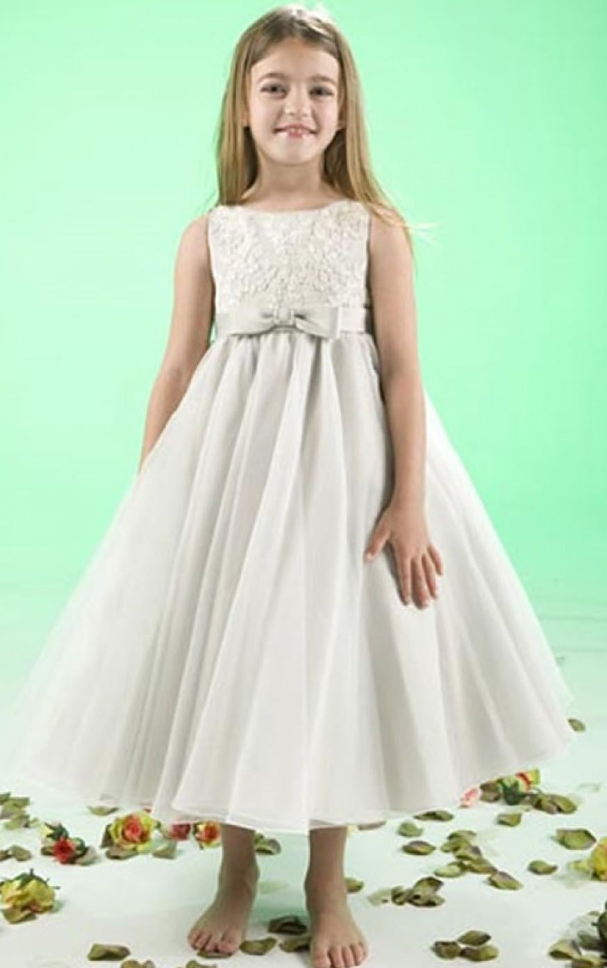 7285a06db Sleeveless Natural Princess Jewel Satin/Tulle Zipper Flower Girl Dresses
