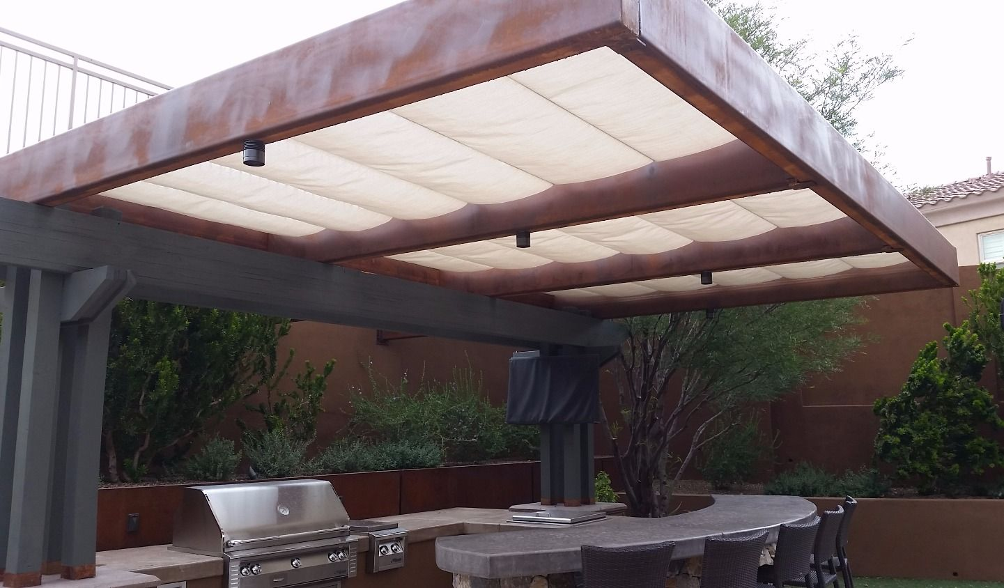 Cantilever Pergola with Infinity Canopy & Cantilever Pergola with Infinity Canopy | Pergolas Canopy and Decking