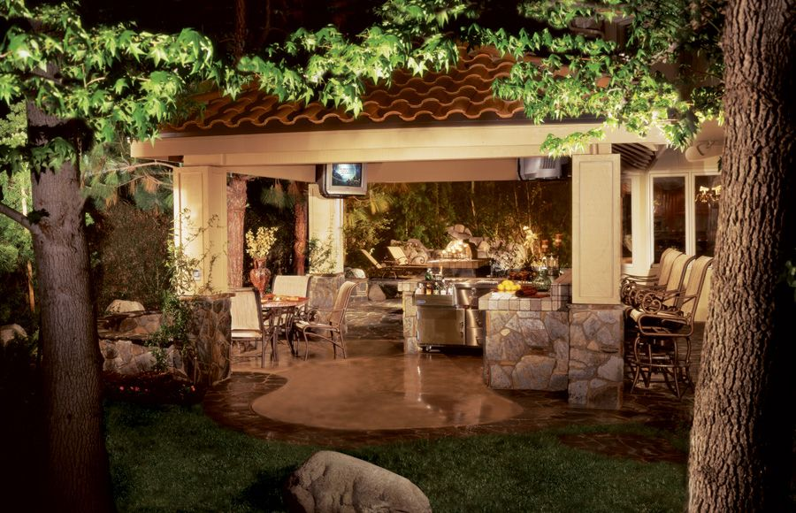 Patio Cover Outdoor Kitchens Backyard Paradise Indoor