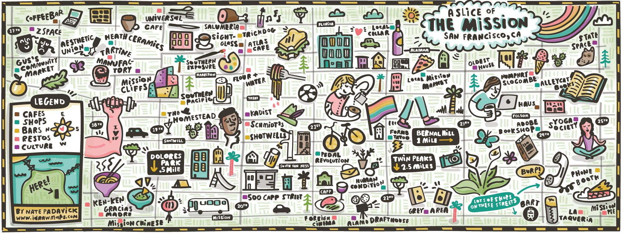 Illustrated Map of the Mission in San Francisco by Nate ...