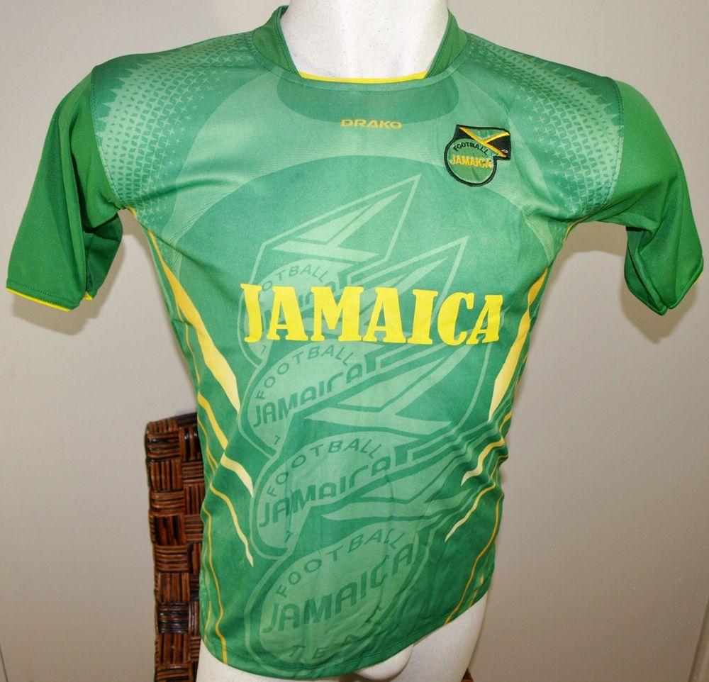 quality design cff50 fa8b8 JAMAICA SOCCER JERSEY T-SHIRT GREEN DRAKO FÚTBOL ONE SIZE L ...
