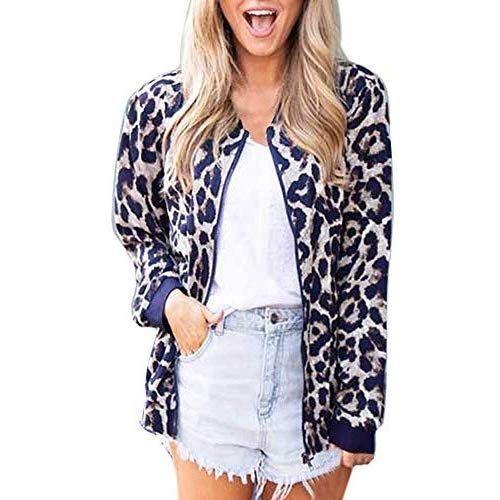 promo code a918f 41ea8 FRAUIT Mode Leopard Damen Fleece Mantel Langarm ...