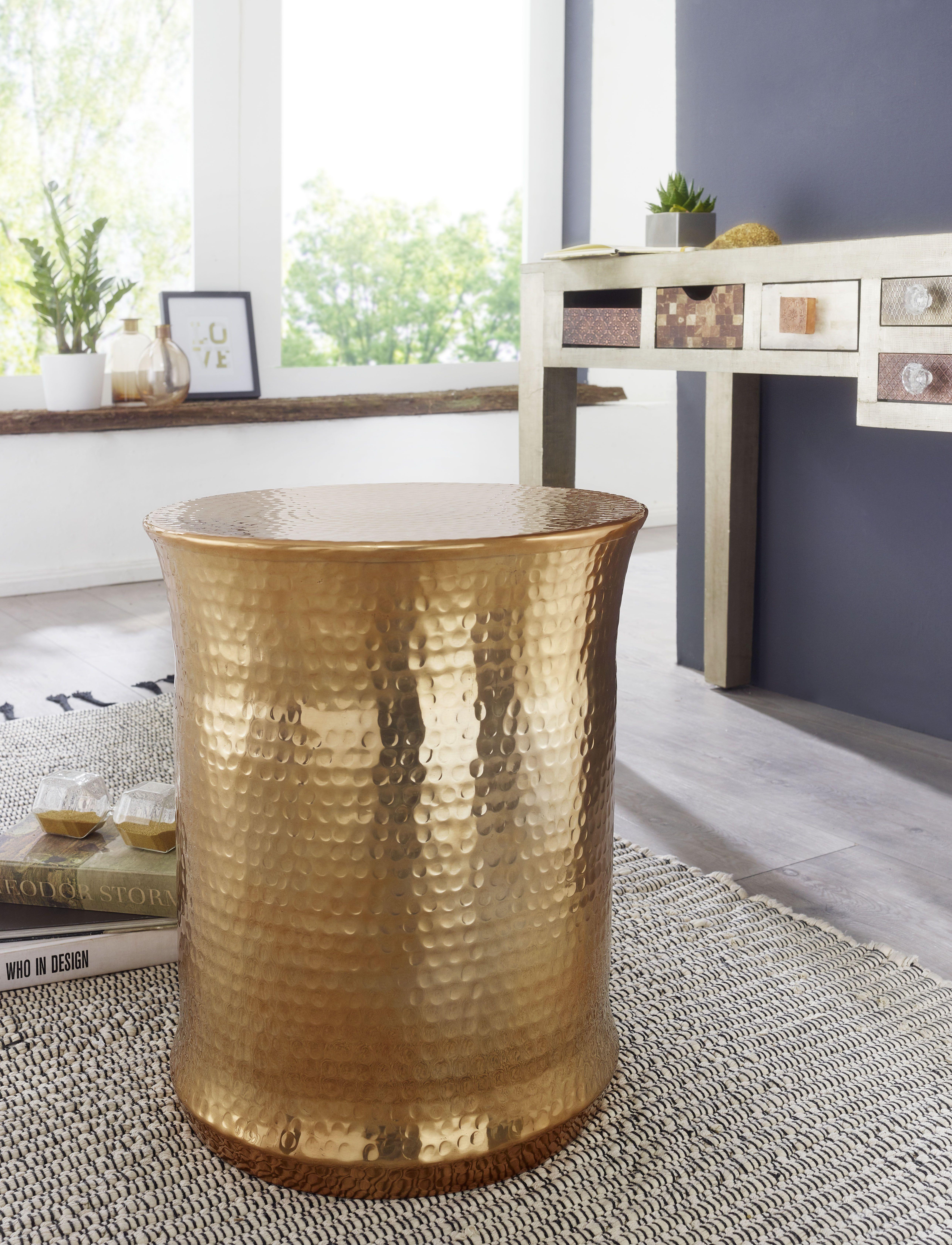Wohnling Beistelltisch Turan Gold Wl5 489 Aus Aluminium Gold Metall Wohnidee Dekoration Ablage Wohnen Rund Blumenti Aluminium Blumentisch Beistelltisch