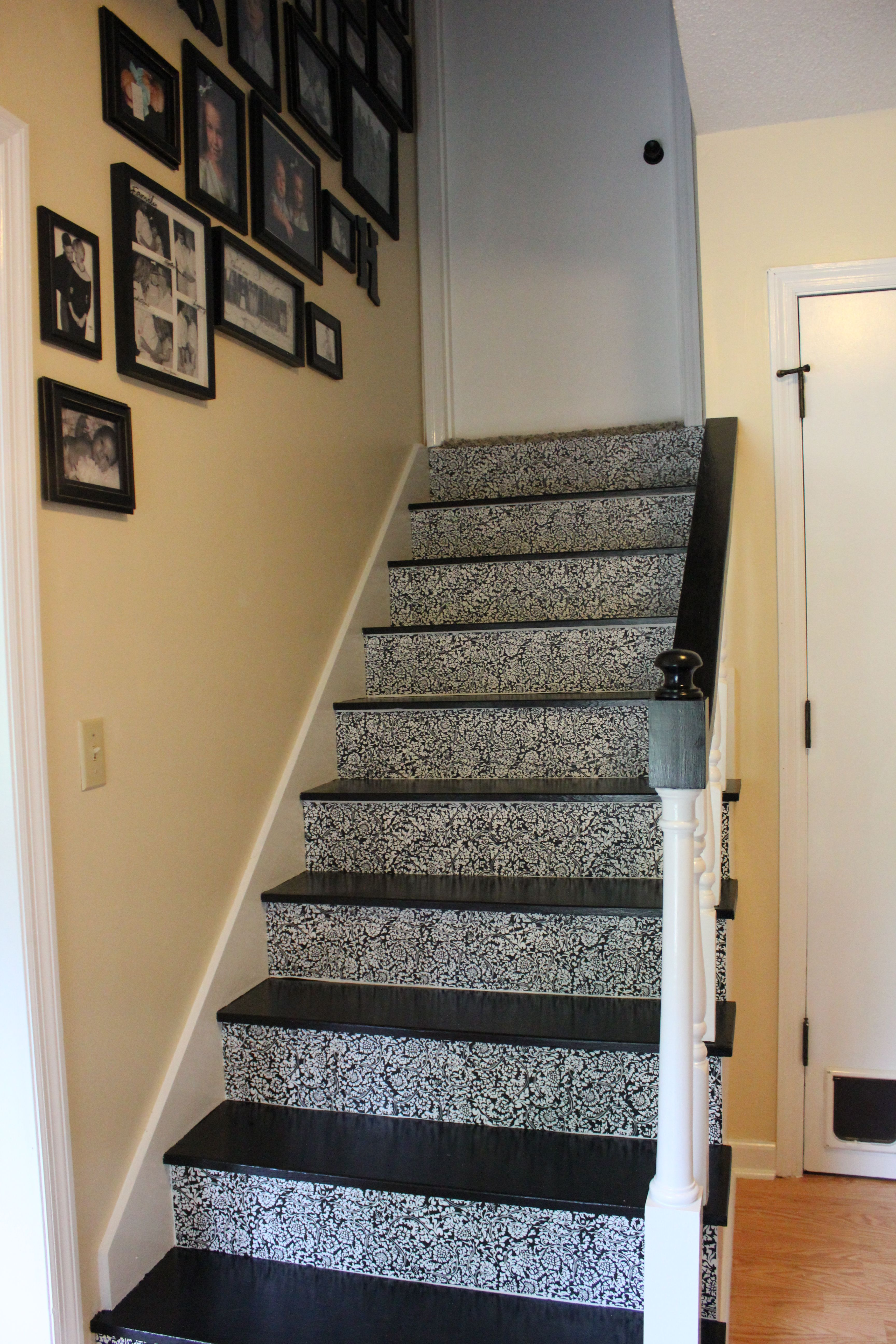 Stairs With Contact Paper Risers Obviously Not This Contact Paper Stairs Home House