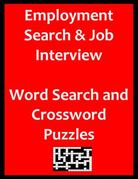 Employment Search Job Interview Puzzles Printable And Or Distance Learning Substitute Teacher Activities Interview Skills Job Interview