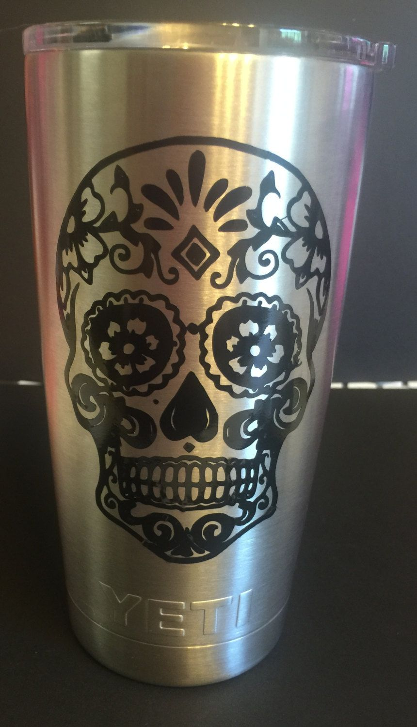Can Customize Fish In The Middle With MANY Other Options Can Add - Sugar skull yeti cup