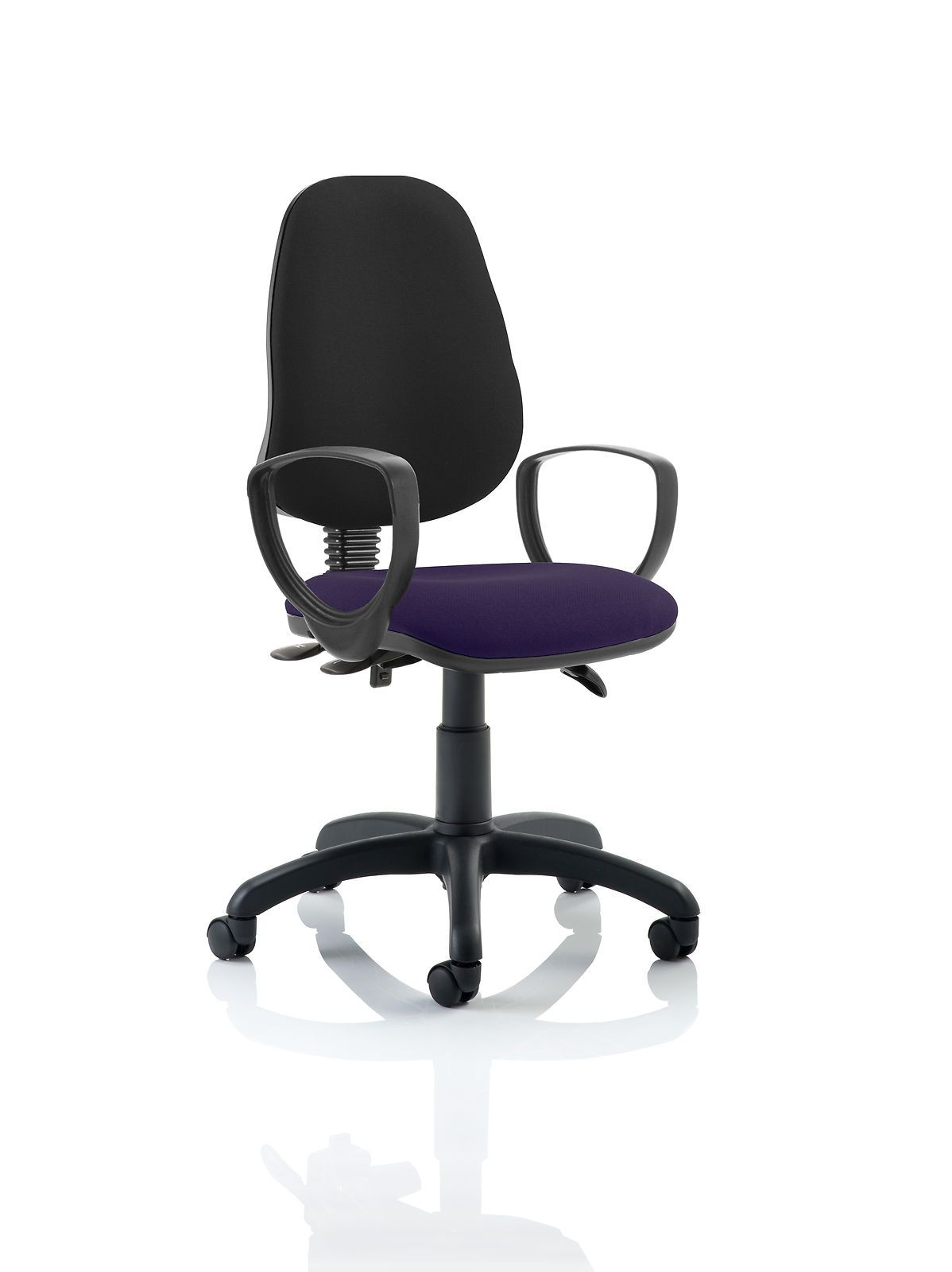Details about office chair eclipse 3 black back bespoke