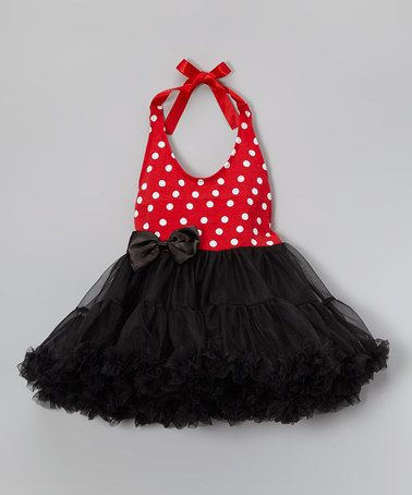This Red Polka Dot Chiffon Dress - Infant, Toddler & Girls by Wenchoice is perfect! #zulilyfinds