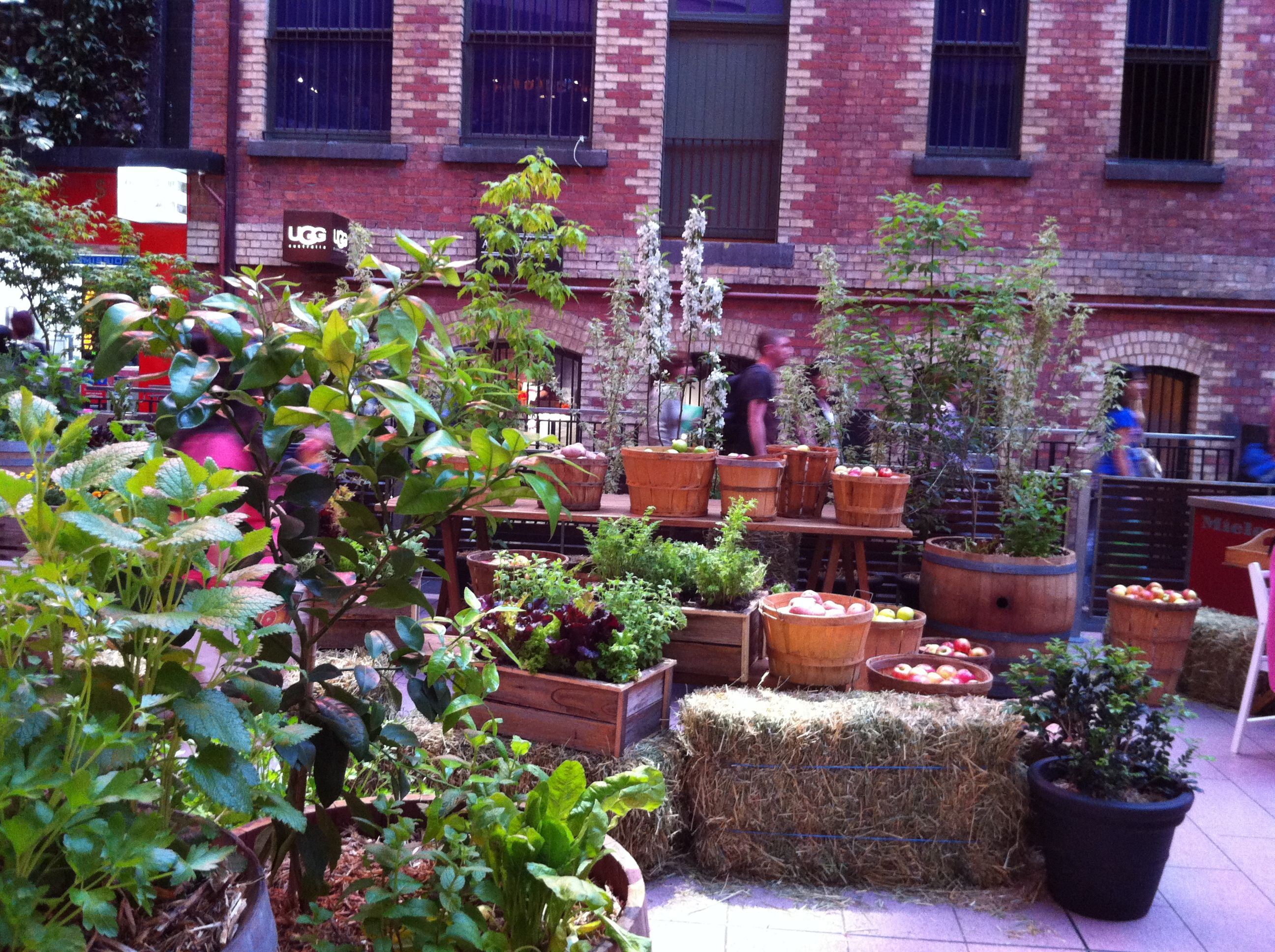 A Kitchen garden in Melbourne Central Shopping Centre ...