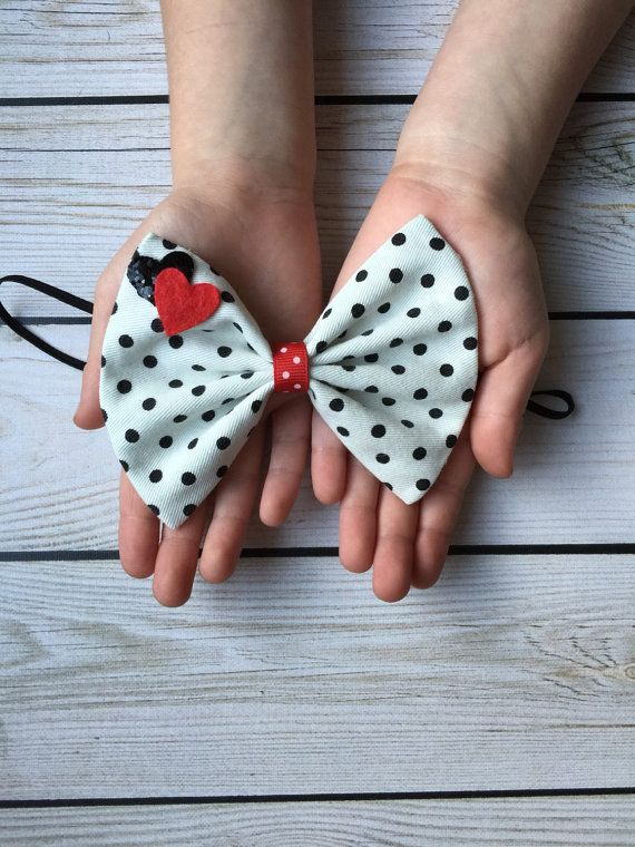 Valentine's Day big bow headband // white and by MyLittleNuggets