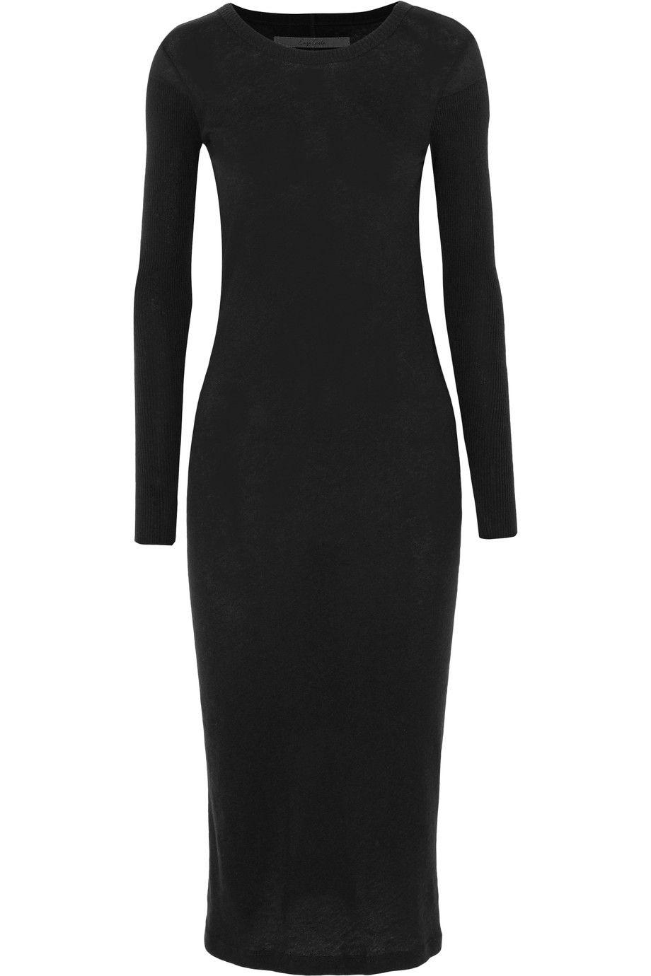 Cheap Finishline Enza Costa Woman Cotton-jersey Midi Dress Black Size L Enza Costa For Cheap Discount Authentic Cheap Visit New 5bnP3