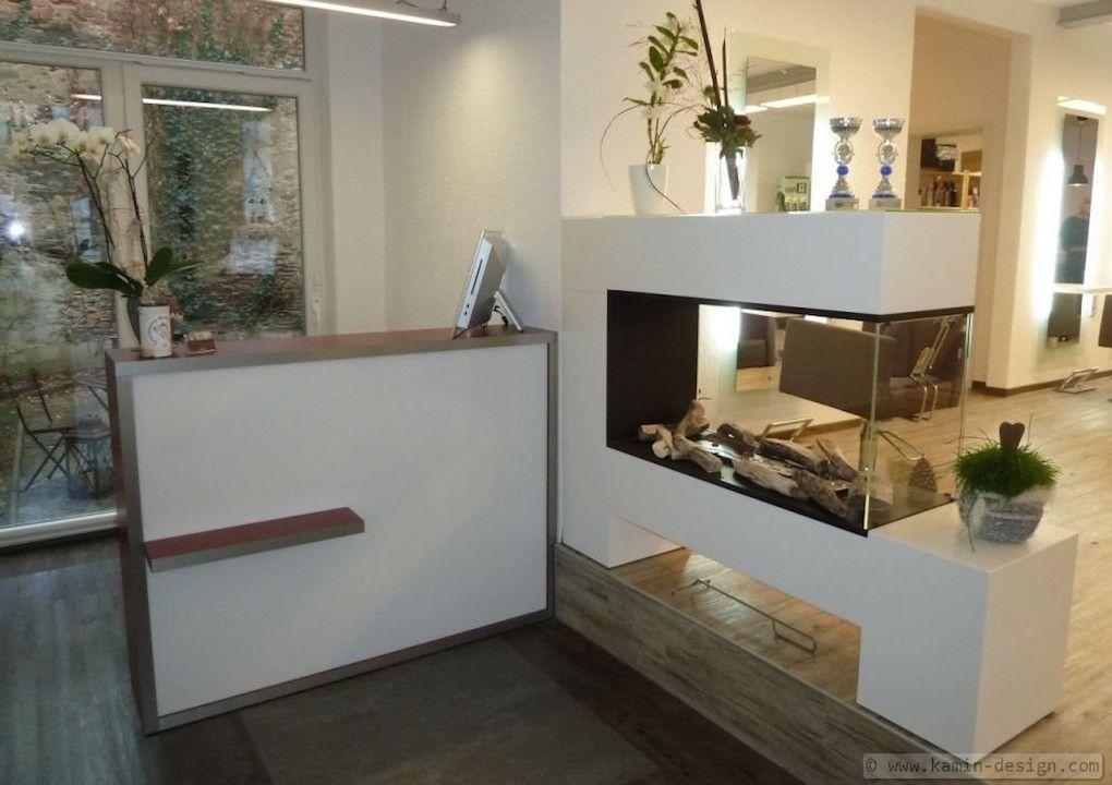 Eleganter Raumteiler Kamin als Ethanolkamin oder Elektrokamin by www - wohnzimmer ideen kamin