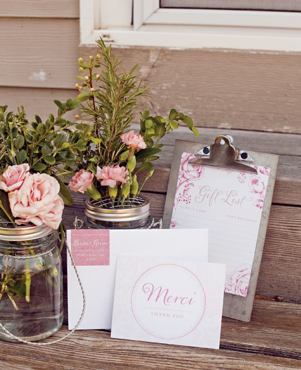 French Baby Shower Thank Yous & Gift List