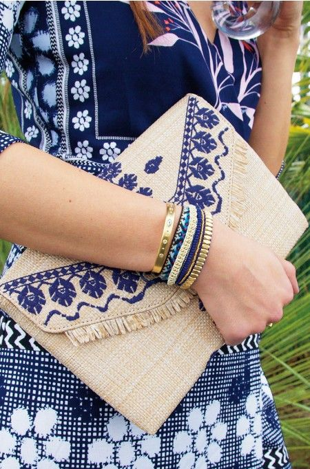 Blue Wrap Bracelet | Stella & Dot Available April 7th! Shop using stylist Anne Marie Martin.