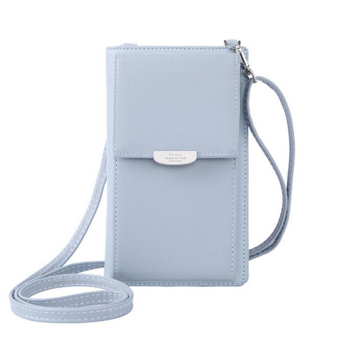 Women PU Leather Crossbody Wallet Coin Cell Phone Case Messenger Shoulder Bag