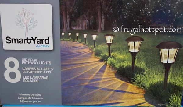 Costco Sale Smartyard Solar Led Large Pathway Lights 8 Pk 39 99 Outdoor Landscape Lighting Pathway Lighting Landscape Lighting