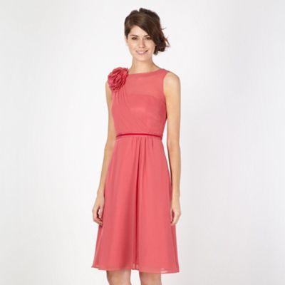 22f70fef18 No. 1 Jenny Packham Designer dark rose flower applique midi dress- at  Debenhams.com. Mother of the Bride ...