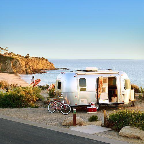 Airstream By The Beach Via Dan Dave Tumblr