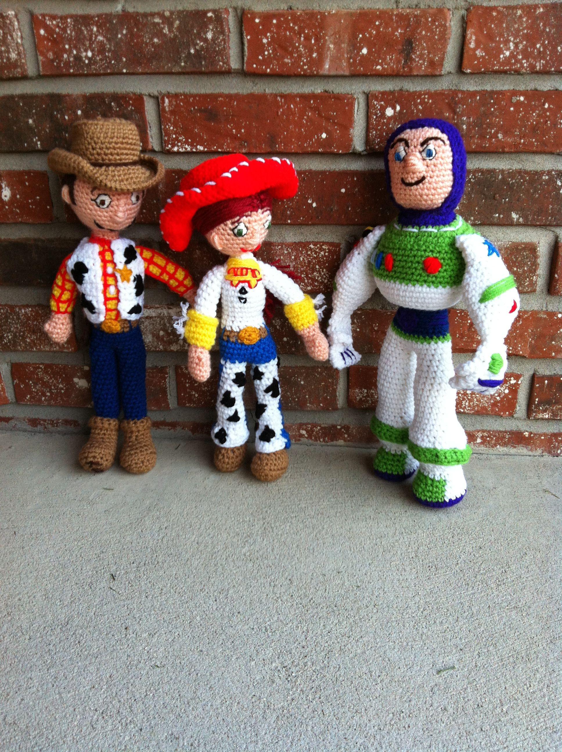 Toy Story Knitting Patterns Woody : Toy Story crochet - Woody, Jessie & Buzz Amigurumi Pinterest Woody