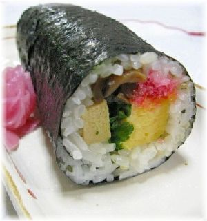 """Rolled SUSHI for lucky direction"" - japanese recipe/節分の恵方巻き(巻き寿司)"