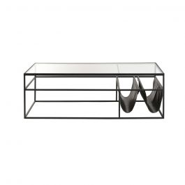 Black Metal And Glass Coffee Table Dining Room Bench Seating