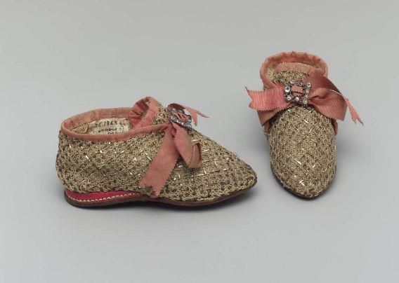 18th century child's shoes | French