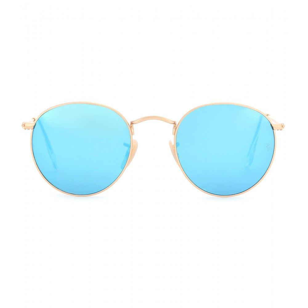 ray ban sonnenbrille rund blau