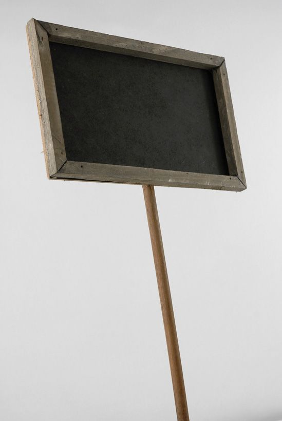Chalkboard Sign with Pole (15-1/2\