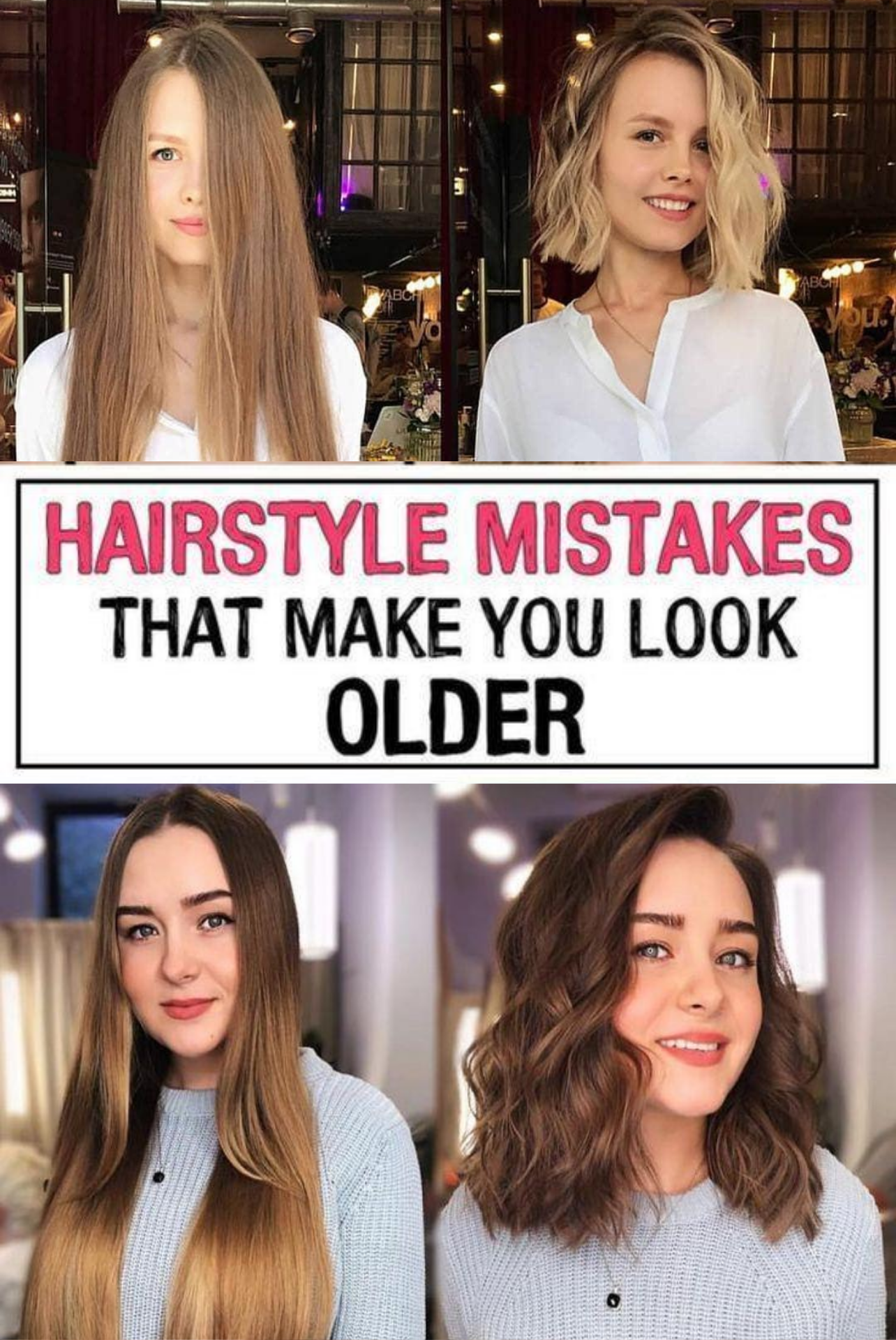11 Hairstyle Mistakes That Are Aging You In 2020 Hair Mistakes Mom Hairstyles Hairstyle