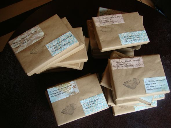 Genial Beach Wedding Invitations In The Box Finally Complete! Ready To Mail! Pic  Heavy :
