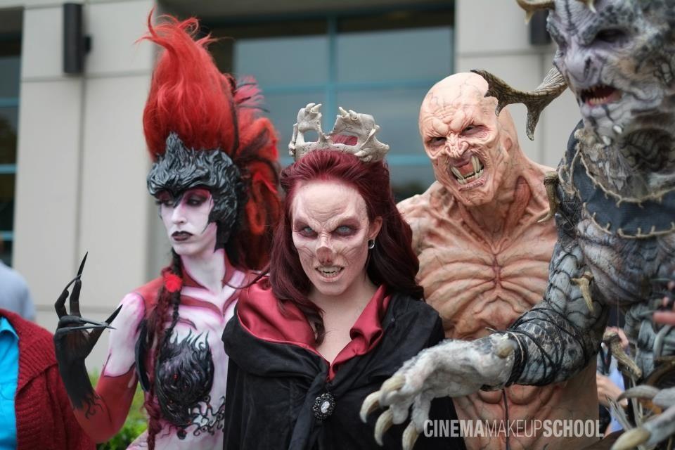 Cinema makeup schools monster militia awes onlookers at