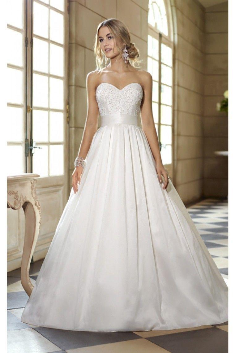 Shop wedding dresses a line sweetheart floor length lace satin