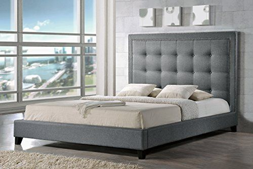 Baxton Studio Hirst Platform Bed, King, Gray, http://a.co/2MP0ts0 ...
