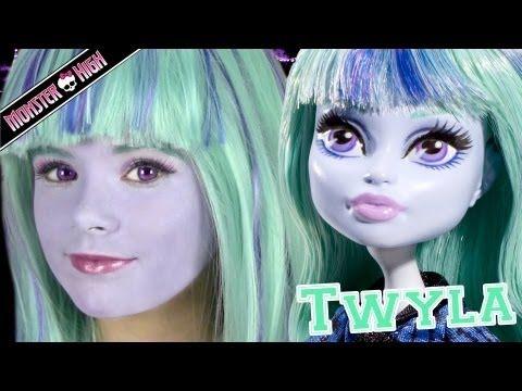 Monster High Twyla Doll Costume Makeup Tutorial for Halloween or Cosplay | KITTIESMAMA
