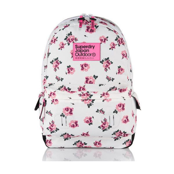 40e4b8c4bbf39 Superdry women s Summer Blush rucksack. The classically styled Summer Blush  rucksack with a floral print design features padded straps and back panel