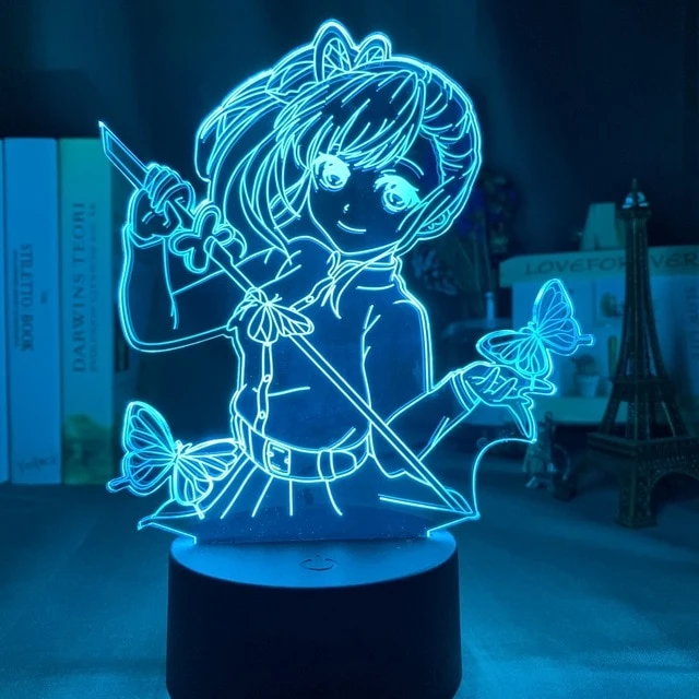 Anime Demon Slayer Face Splice Acrylic Led Night Light For Kids Child Bedroom Decor Cool Nightlight Kimetsu No Yaiba Lamp Gift Night Light 3d Illusions Led Night Light