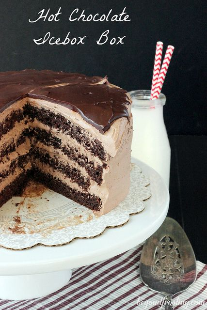 Hot Chocolate Icebox Cake with Hot Chocolate Whipped Cream