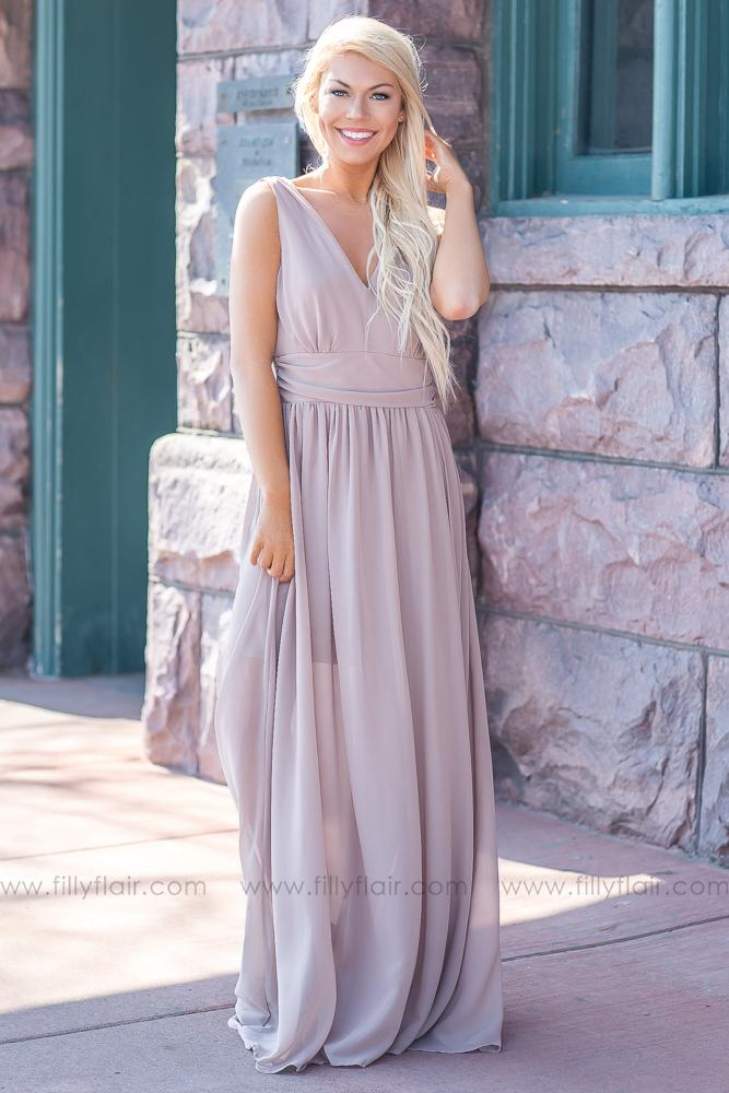 6e67aee9a2 Isabella Bridesmaid Dress In Taupe